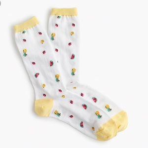 J. Crew Summer Fruit Trouser Socks NWT J4285